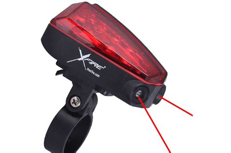 the xfire safety light creates a laser generated bike
