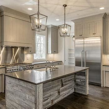 barn board kitchen island design ideas gray shiplap kitchen hood with stainless steel cooktop