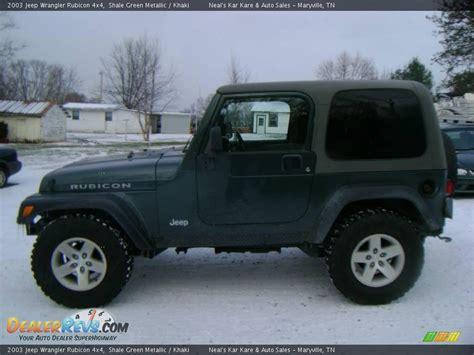 2003 green jeep 2003 jeep wrangler rubicon 4x4 shale green metallic