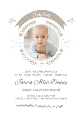baptismal invitation layout maker ribbon cameo free baptism christening invitation
