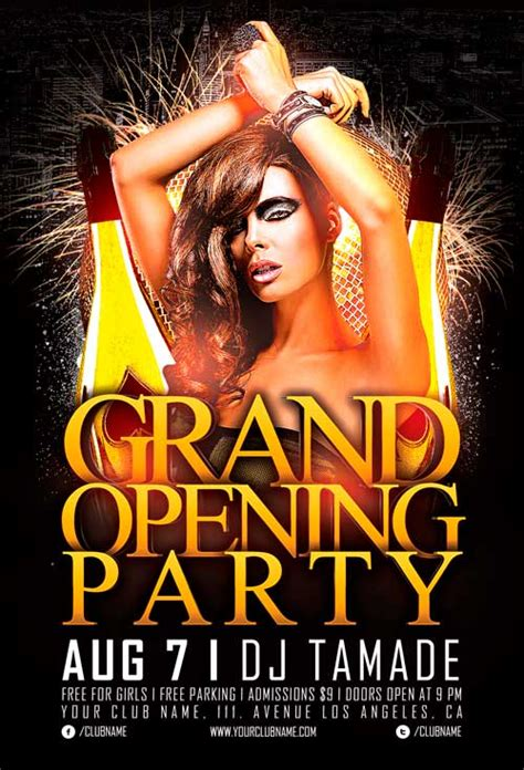 Free Grand Opening Party Flyer Template Vol 2 Awesomeflyer Com Free Nightclub Flyer Templates