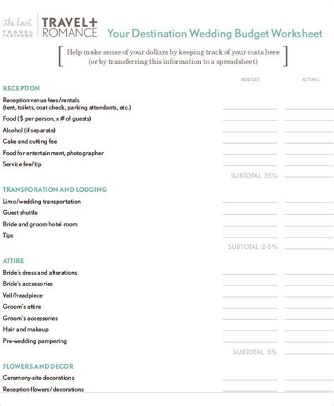 wedding budget form sle budget form