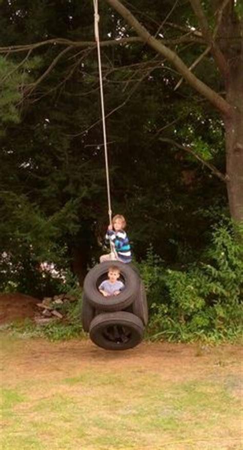 tire swings for adults tire swing between two trees backyard fun pinterest
