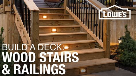 How To Build A Handrail For Outdoor Steps How To Build A Deck Wood Stairs Amp Railings 4 Of 5
