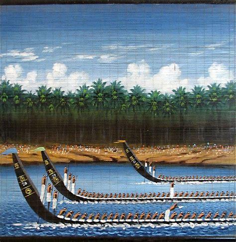 kerala boat race snake boat race in kerala wall hanging