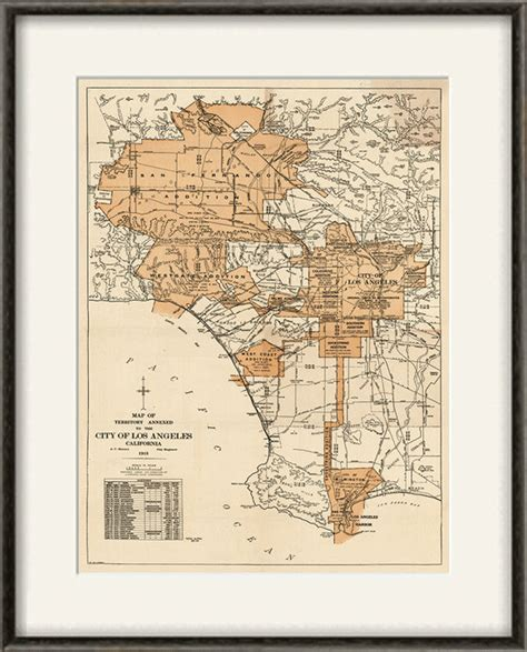 vintage ls los angeles los angeles map print map vintage old maps antique map poster