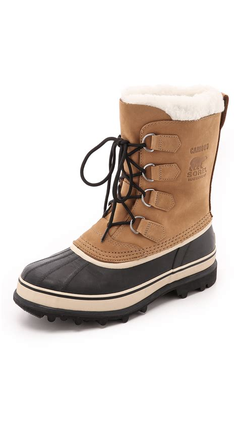 sorel caribou boots sorel caribou boots in brown for lyst
