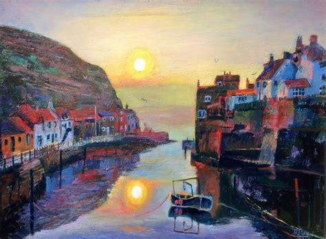 painting on current painting at staithes gallery