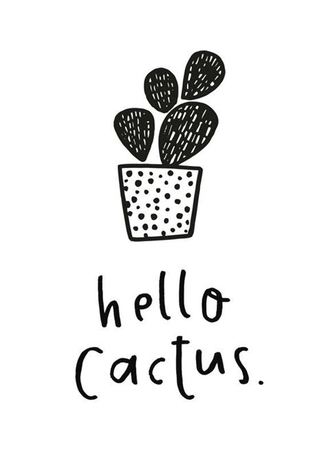 free printable hello cactus printable riss home design as 25 melhores ideias de cactus illustration no pinterest