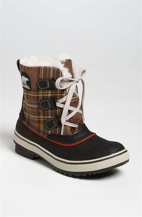 sorel tivoli waterproof boot in multicolor black hawk lyst