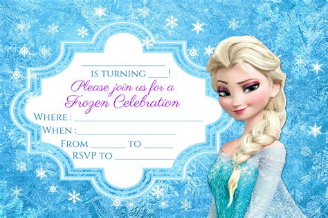 free frozen party invitation instant download encore