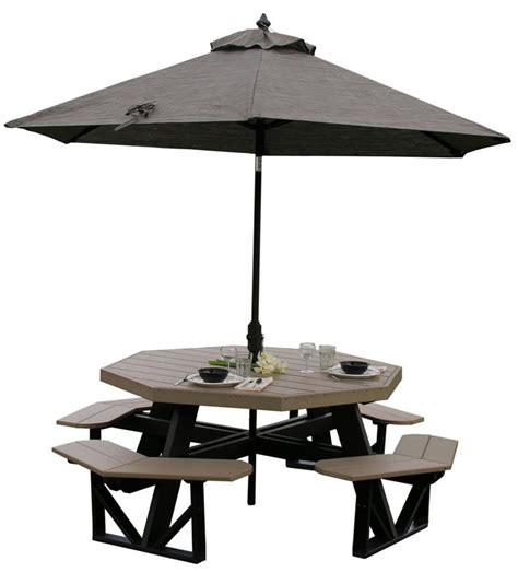 luxcraft poly octagon picnic table from dutchcrafters
