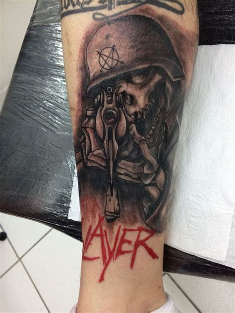 metal tattoo 490 best images about slayer on thrash metal