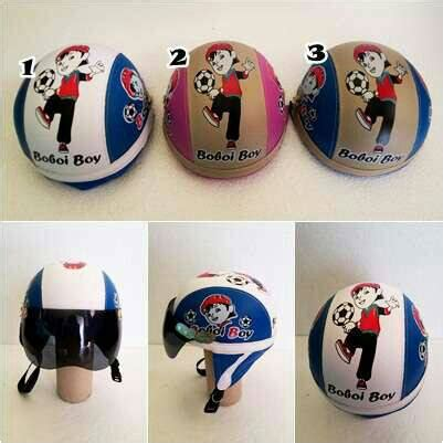 Helm Retro Chip Sinchan Anak jual helm anak retro chip motif bobo boy kaca moe moe helm