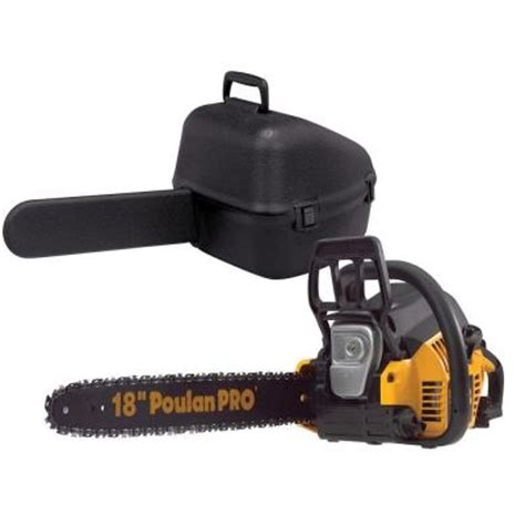 poulan pro 18 in 42cc gas chainsaw 967185105 the home depot