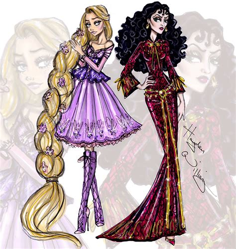fashion illustration rapunzel hayden williams fashion illustrations princess vs villainess by hayden williams rapunzel