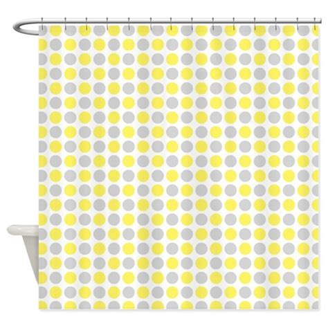 dots shower curtain yellow grey dots shower curtain by dreamingmindcards