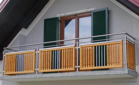 balkongel 228 nder holz edelstahl kombiniert das beste aus - Balkongeländer Edelstahl Holz