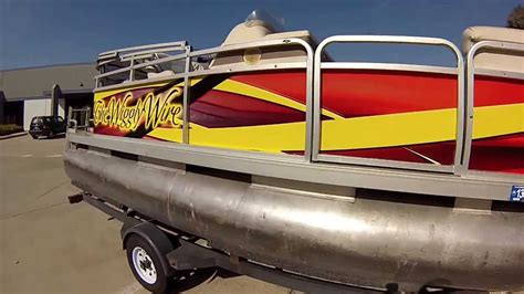 boat wraps pontoon full boat wrap youtube