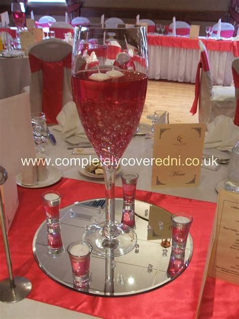 Extra Large Chagne Glass Centerpiece Recent Photos Wedding Centerpieces With Wine Glasses