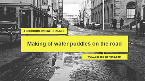 tutorial vray for sketchup puddles on the road after rain making of water puddles on the road youtube