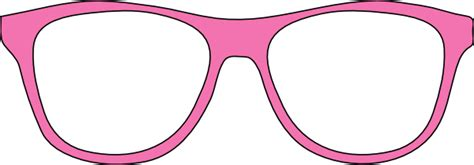 Pink And Black Glasses pink glasses clipart