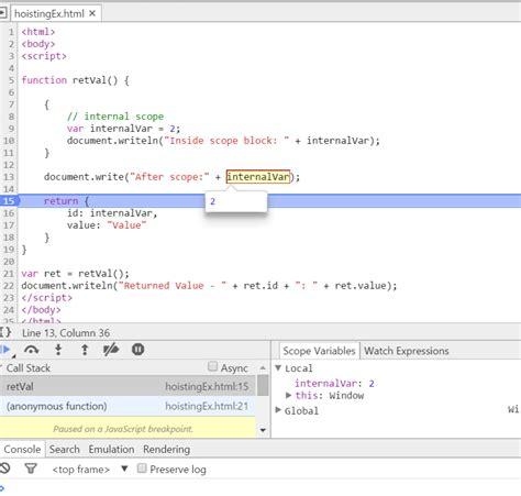var pattern javascript variable hoisting in javascript alternate stack