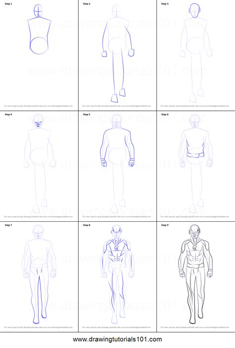 how to draw flash printable step by step drawing sheet drawingtutorials101