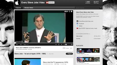 blogger x youtube watch nearly every steve jobs video on new blog site and
