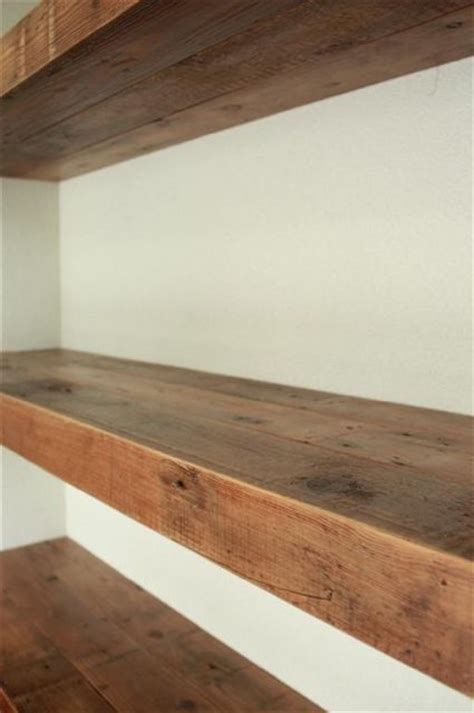 thick wooden shelves