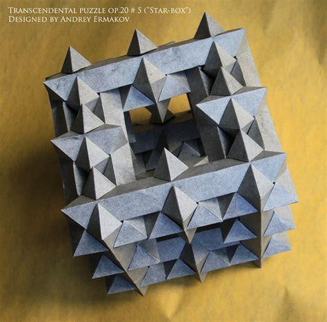 Puzzle Origami - transcendental puzzle op 20 5 box origami