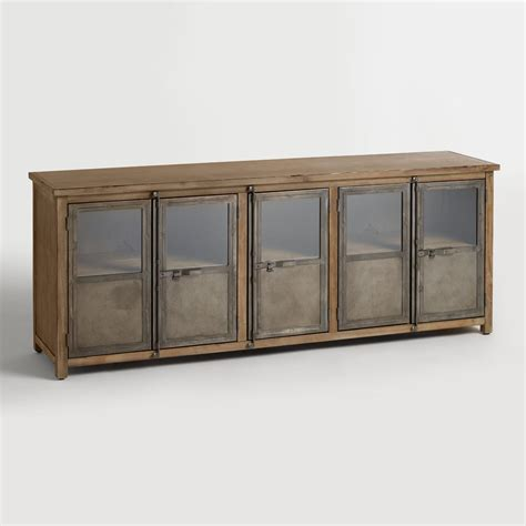 Cabinet Storage by Large Wood And Metal Langley Storage Cabinet World Market