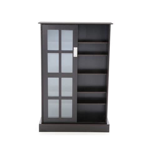 Stylish New Dvd Cd Blu Ray Media Storage Cabinet Glass Media Storage Cabinet With Glass Doors
