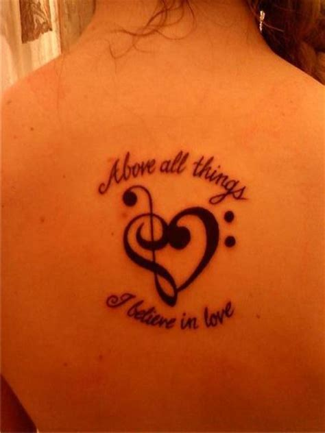 tattoo quotes music music note and quote tattoo on back