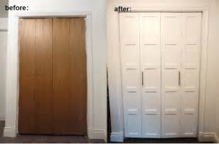 Bifold Closet Doors by Top Diy Tutorials Bi Fold Closet Door Makeover