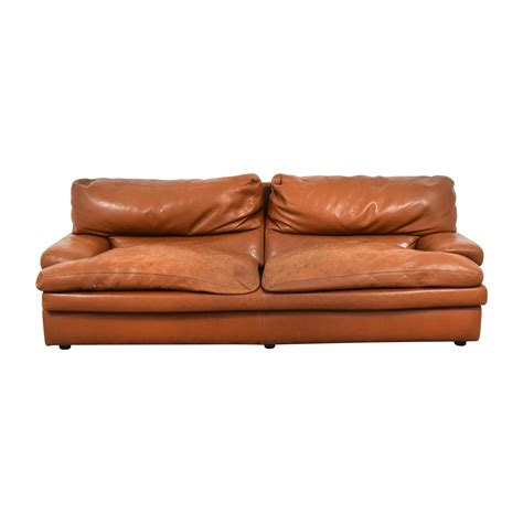 burnt orange leather sofa buy leather sofa used furniture on sale