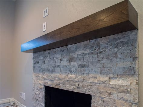 wood modern beam fireplace mantel custom made cherry