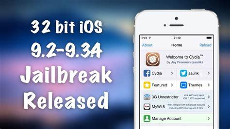 youtube tutorial iphone 5c 32 bit jailbreaks are back ios 9 3 4 jailbreak for