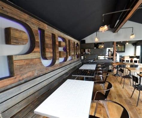 priority public house priority public house quot public quot wall made from reclaimed