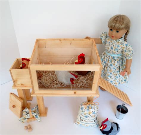18 inch doll house accessories doll chicken coop handcrafted for 18 inch dolls such as american girl 174 handcrafted
