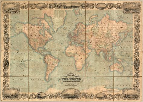 map quest direction world map 1847 majesty maps prints