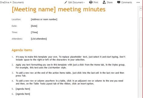 Meeting Minutes Templates For Word Corporate Meeting Minutes Template Word