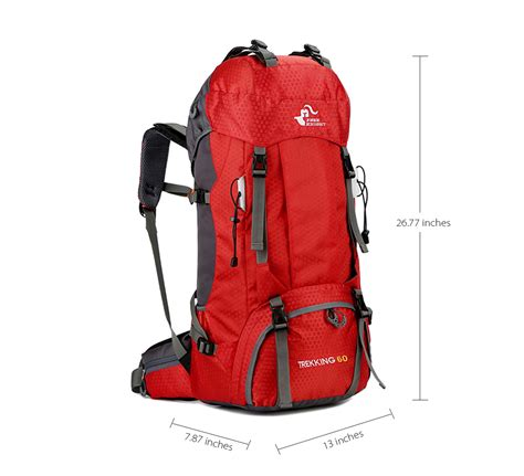 free 60l waterproof climbing hiking backpack cover bag 50l cing mountaineering