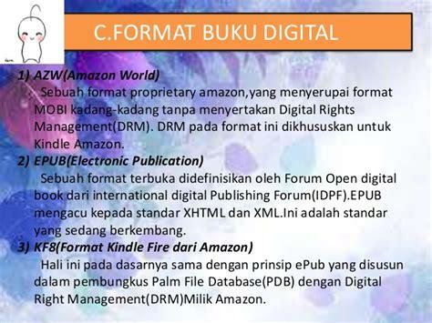 format buku digital serta alat bacanya pengertian fungsi dan format buku digital
