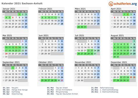 kalender  ferien sachsen anhalt feiertage