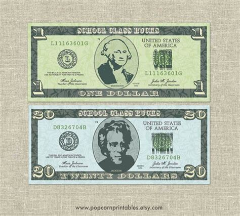 printable editable fake money classroom bucks play money instant download pdf file