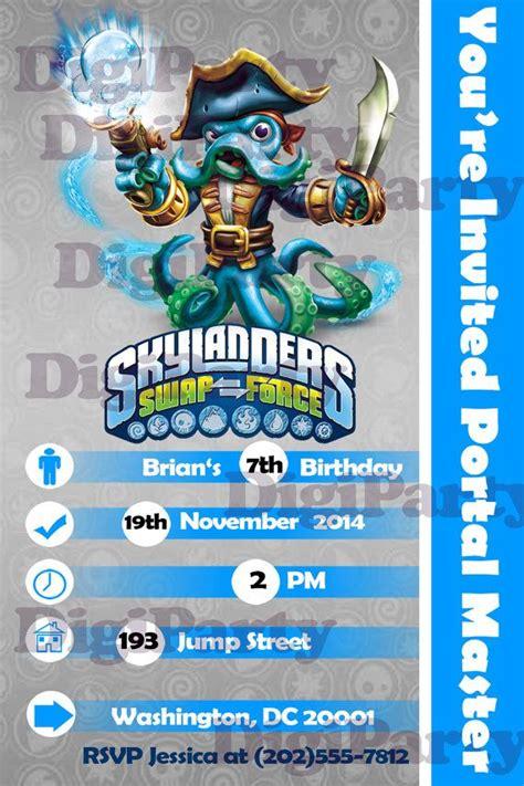 printable birthday cards skylanders skylanders swap force birthday party personalized by