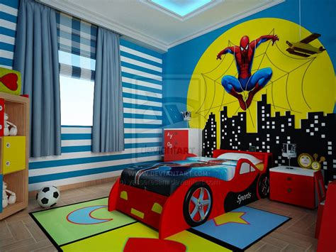 kids spiderman bedroom spider man bedroom kid room by yasseresam on deviantart