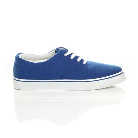 mens canvas casual trainers plimsoles plimsolls shoes lace up pumps size ebay