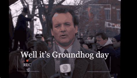 it s like groundhog day meaning bill murray groundhog gif find on giphy